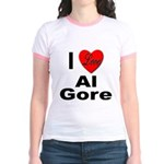 I Love Al Gore (Front) Jr. Ringer T-Shirt