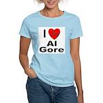 I Love Al Gore (Front) Women's Pink T-Shirt