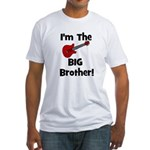 I'm the Big Brother (guitar) Fitted T-Shirt