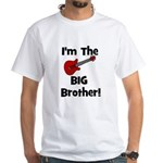 I'm the Big Brother (guitar) White T-Shirt