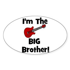 I'm the Big Brother (guitar) Oval Decal