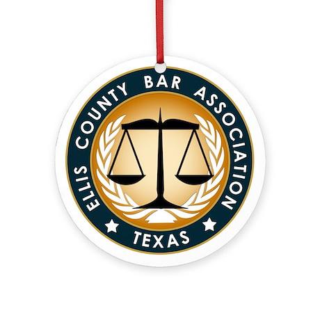 Ellis County Bar Association Logo Ornament (Round)