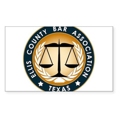 Ellis County Bar Association Logo Sticker (Rectang