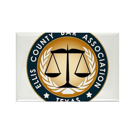 Ellis County Bar Association Logo Rectangle Magnet
