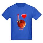 I Love Mars Kids Dark T-Shirt