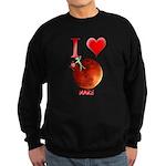 I Love Mars Sweatshirt (dark)