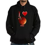 I Love Mars Hoodie (dark)