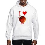 I Love Mars Hooded Sweatshirt