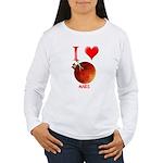 I Love Mars Women's Long Sleeve T-Shirt