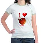 I Love Mars Jr. Ringer T-Shirt