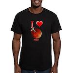 I Love Mars Men's Fitted T-Shirt (dark)