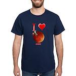 I Love Mars Dark T-Shirt