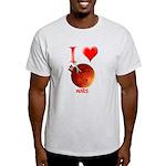 I Love Mars Light T-Shirt