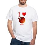 I Love Mars White T-Shirt