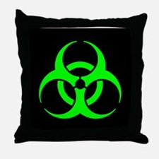 Biohazard Throw Pillow