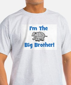 I'm The Big Brother (elephant Ash Grey T-Shirt