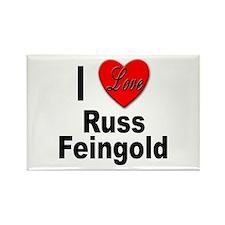 I Love Russ Feingold Rectangle Magnet