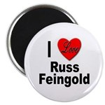 I Love Russ Feingold Magnet