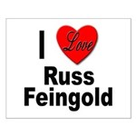 I Love Russ Feingold Small Poster