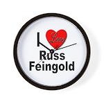I Love Russ Feingold Wall Clock