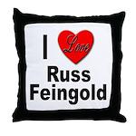 I Love Russ Feingold Throw Pillow