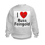 I Love Russ Feingold Kids Sweatshirt