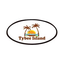 Tybee Island GA - Palm Trees Design. Patches