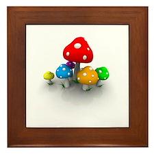 Mushrooms Framed Tile