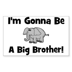 Gonna Be Big Brother (elephan Sticker (Rectangular