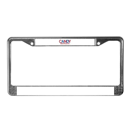 Candy Logo (red/blu) License Plate Frame