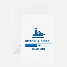 Jetski Skills Loading Greeting Card