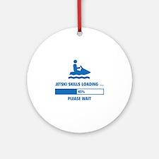 Jetski Skills Loading Ornament (Round)