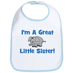 Great Little Sister (elephant Bib