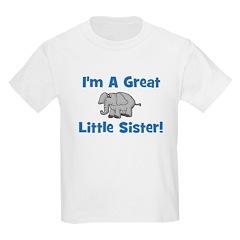 Great Little Sister (elephant Kids T-Shirt