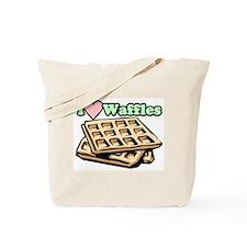 """I Love Waffles"" Tote Bag"