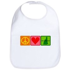 Peace Love New Hampshire Bib