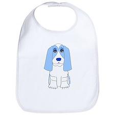 Blue Basset Hound Bib