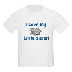 Love My Little Sister (elepha Kids T-Shirt