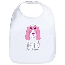 Pink Basset Hound Bib