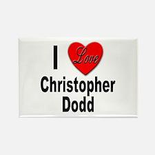 I Love Christopher Dodd Rectangle Magnet
