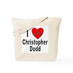 I Love Christopher Dodd Tote Bag