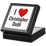 I Love Christopher Dodd Keepsake Box