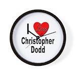 I Love Christopher Dodd Wall Clock