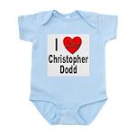 I Love Christopher Dodd Infant Creeper
