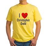 I Love Christopher Dodd Yellow T-Shirt