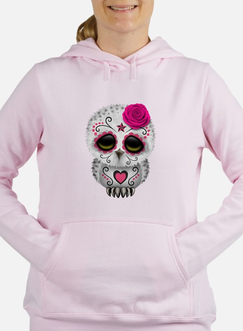 Pink Day of the Dead Sugar Skull Owl Sweater Sweat