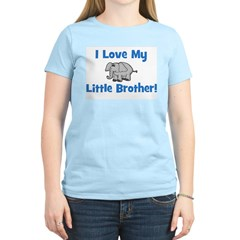 Love My Little Brother (eleph Women's Pink T-Shirt