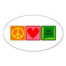 Peace Love New Mexico Decal