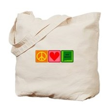 Peace Love New Mexico Tote Bag