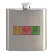 Peace Love New Mexico Flask